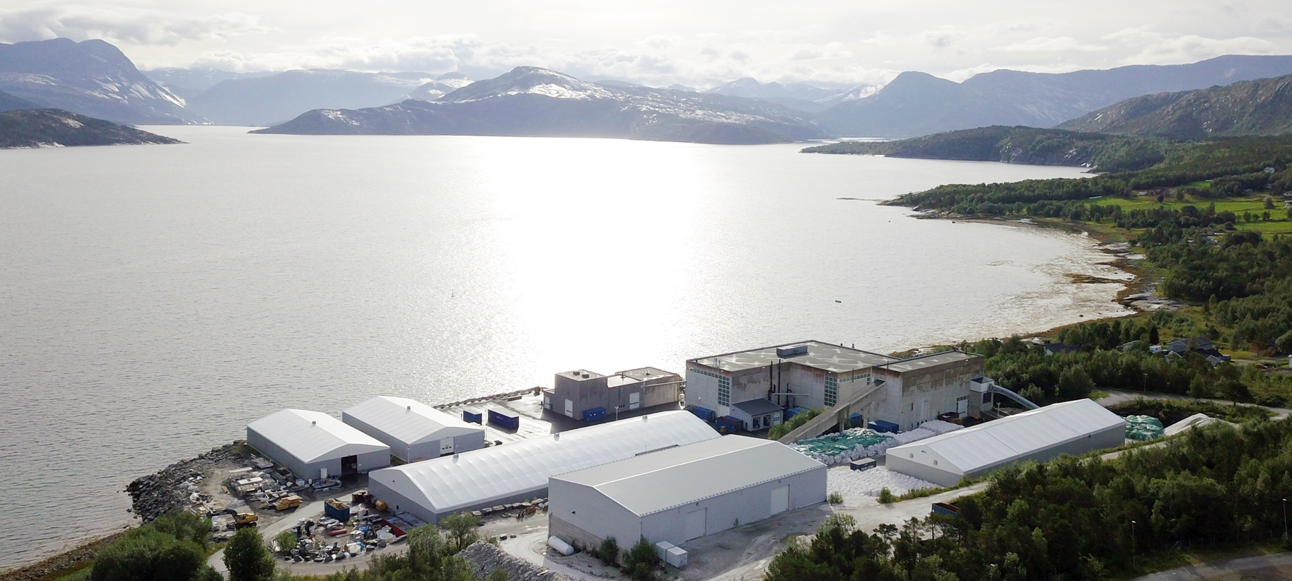 Manufacturing plant set among the Norwegian Fjords in Drag